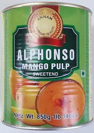Annam alphonso mango pulp