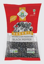 24 Mantra Organic Black Pepper whole 100g
