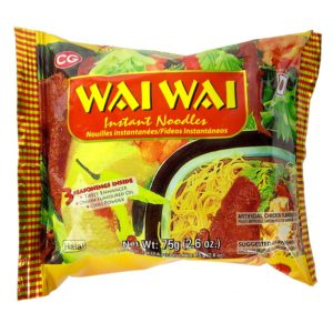 wai wai chicken noodles