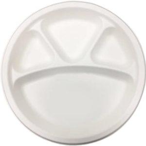 4 comparrtment plate