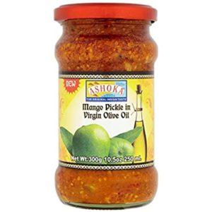 ashoka mango pickle in olive oil