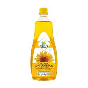24 mantra Organic Sunflower Oil 1 L