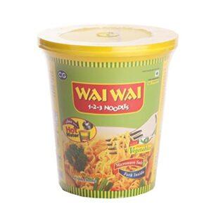 Wai Wai cup noodles veg 65g