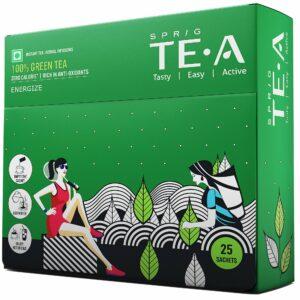 Sprig green tea